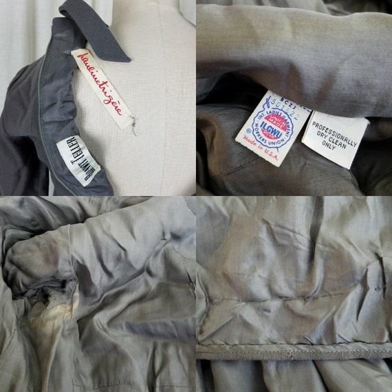 Pauline Trigere Bonwitt Teller Gray Worsted Wool … - image 7