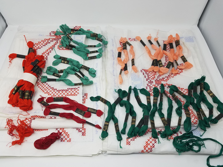 Paragon Paragon Paragon Needlecraft comptés au point de croix couvre-lit Quilt Top Kit 01181 Double taille rubans Roses Vintage des années 1970 tapisserie travail et ensemble d'artisanat cf8db8