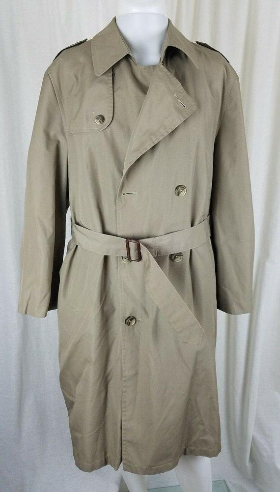 Vintage Hart Schaffner & Marx Trench Coat Wool Hou