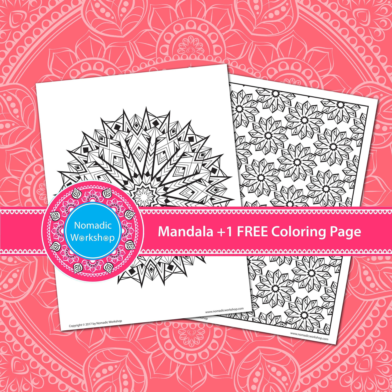 Mandala coloring pages printable for adults Coloring Mandala | Etsy