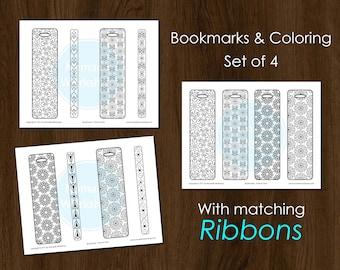 Bookmark Coloring Bookmark Set DIY Bookmark Mandala Coloring Printable bookmark Coloring for adults Custom bookmark Planner Bookmark Mandala