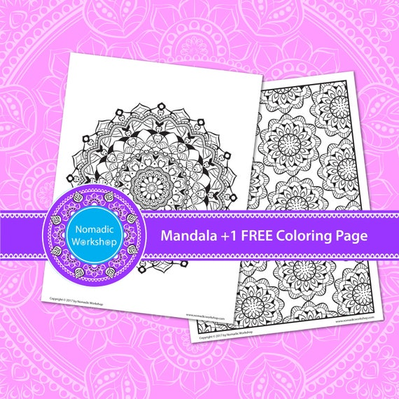 Mandala coloring pages printable for adults Coloring Mandala printable  Mandala coloring pages for adults Art therapy Mandala printable Color