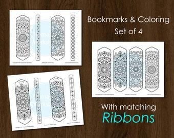 Bookmark Coloring Mandala Bookmark  Color Bookmark DIY Bookmark Printable Bookmark Coloring Bookmark Personalized bookmark Bookmark coloring