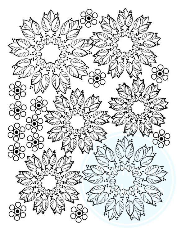 Coloring pages for adults printable Pattern coloring pages for | Etsy