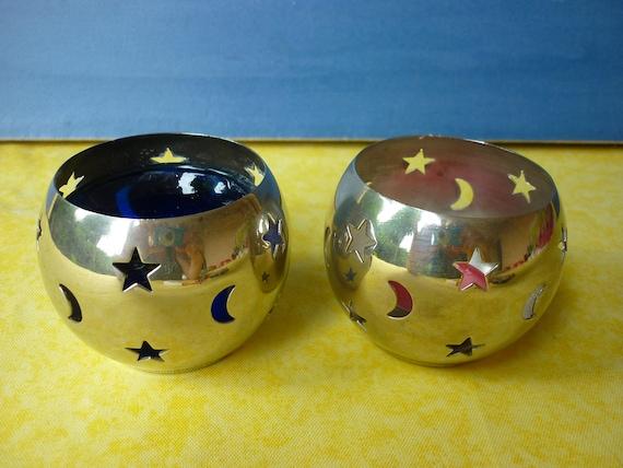Rabatt kerzenständer teelichter metall silber marke cyrillus etsy