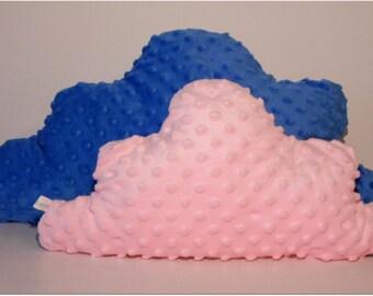 SET of 2 soft  cloud-shape pillows with pompoms/ crib / home decor/ bedding