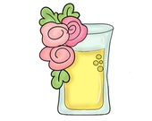 floral double shot glass beer glass cookie cutter