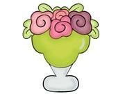 floral margarita glass cookie cutter