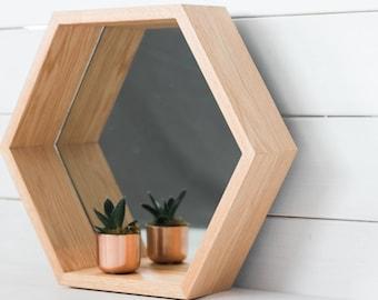 Mirror Hexagon Shelf