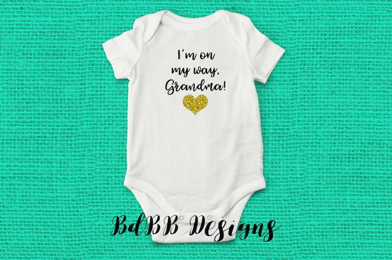 aa94d0a1c I'm on my Way Grandparent Reveal Pregnancy Announcement   Etsy
