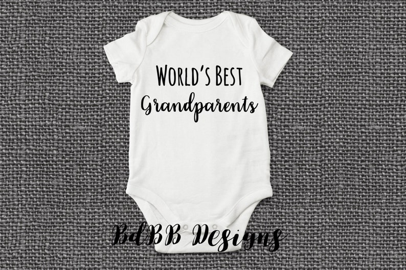 62ff74a69 World's Best Grandparents Pregnancy Announcement Onesie / | Etsy