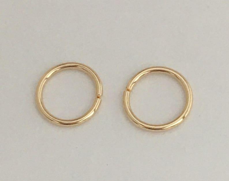 Gold Nose Ring Hoop 22 Gauge 5 6 Mm Piercing Jewelry