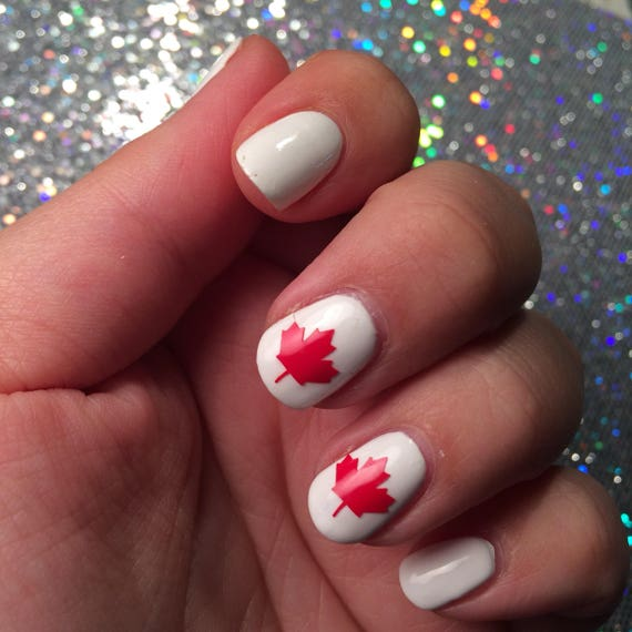 24 Maple leaf vinyl nail decal for nail art available in 20 | Etsy
