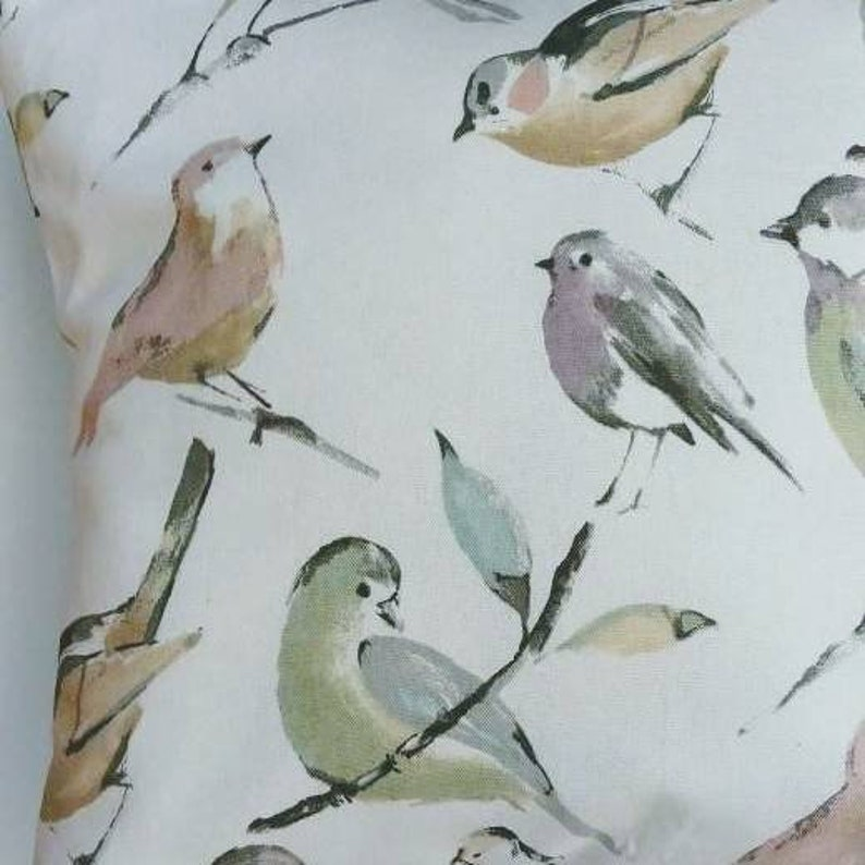 Birds Decorative Pillow Cover French Farmhouse Cottage image 0