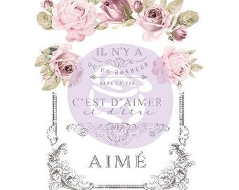 Dans La Vie 27x36 French Inspired Prima Marketing Redesign Transfer  Item: 655350633011