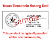 Texas Electronic Notary Seal