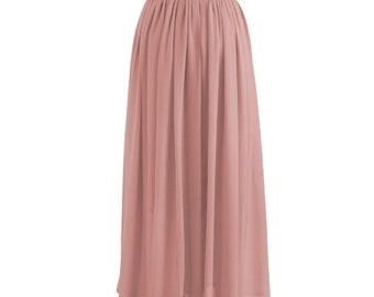 bad668b66057 Chiffon Skirt| Maxi Skirt| Long Skirt| Elegant skirt| Flowy skirt