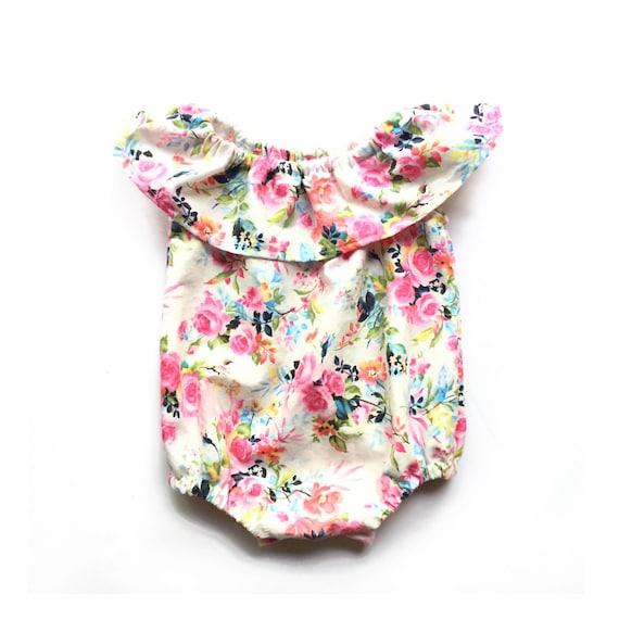 91cd2cc5467d Boho Baby Romper Floral Baby Romper Boho Floral Romper