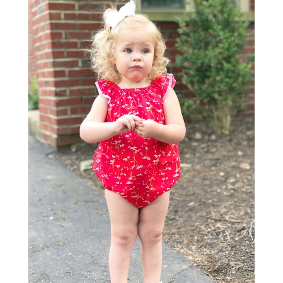 82852f76cb96 Baby Spring Romper Floral Baby Romper Toddler Spring Outfit