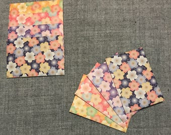 Perfect for all occasions 2 x 4 bright designs cute Pack of 8 Mini tropical envelopes handmade