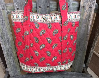 19ad18aa90 Vintage Vera Bradley Indiana Classic Red Paisley Original Style Tote  Extremely Rare