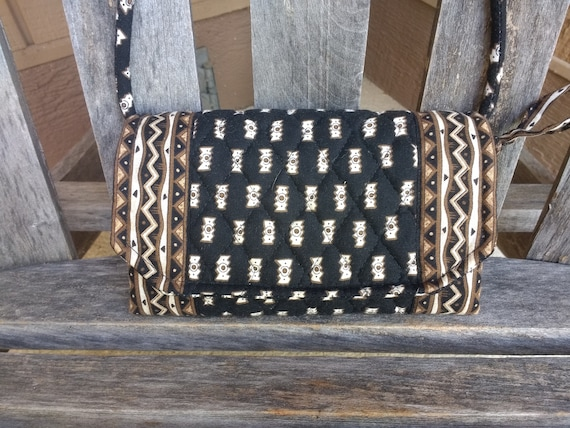 b0265f380e Vintage Vera Bradley Zebras Handbag Black Brown and Beige