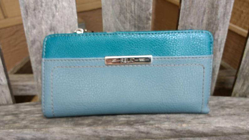0ec18fd076990 Skórzany portfel Vintage Relic i Posiadacz czeku | Etsy