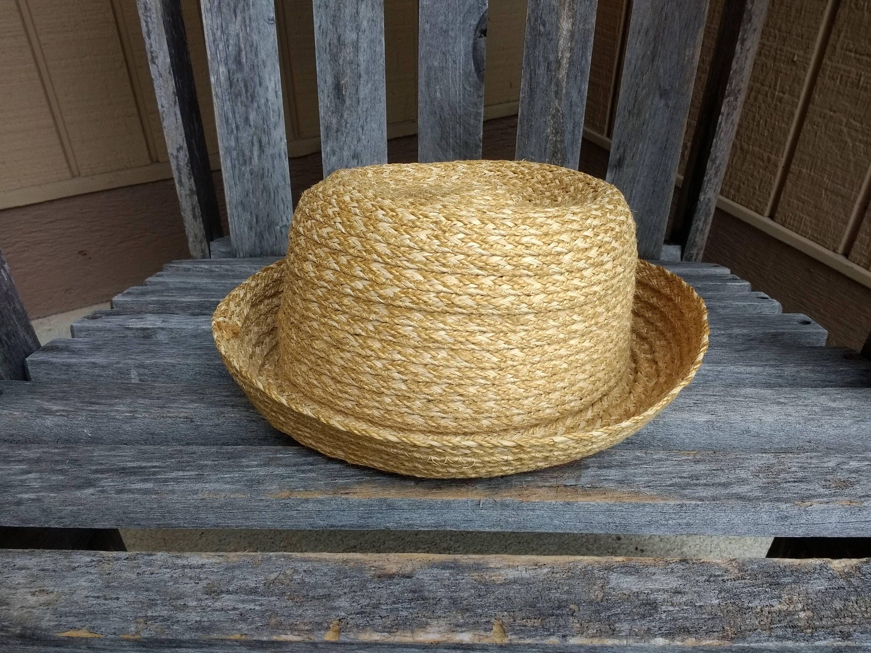 Vintage The Gap Woven Sun Hat Floppy Summer Beach Hat One Size  ae9b10c8804