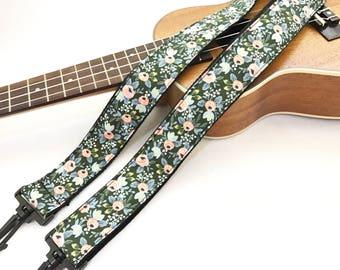 NuovoDesign Hunter Rose MULTI-FUNCTIONAL  strap for ukulele, uke, user friendly, No need drilling hole