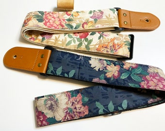 Promotional price Guitar strap!NuovoDesign L l B E R T Y of L0ND0N  CamberweII Guitar strap, vegan leather