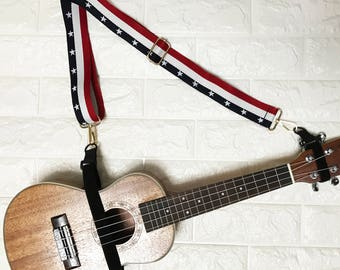 Clearance sale! NuovoDesign FREEDOM STARS multifunctional strap for ukulele and more .....