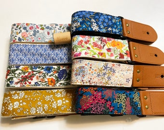 Promotional price Guitar strap!NuovoDesign L l B E R T Y of L0ND0N  ( many patterns available) Guitar strap, vegan leather