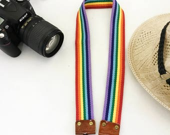 NuovoDesign trendy  'Hope' Rainbow camera strap for DSLR and mirrorless,  Recommended Item in promotional wholesale price