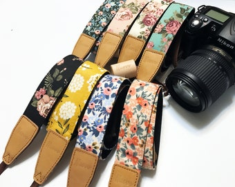 Clearance price items! NuovoDesign floral camera strap (Many colors available) for DSRL and mirrorless