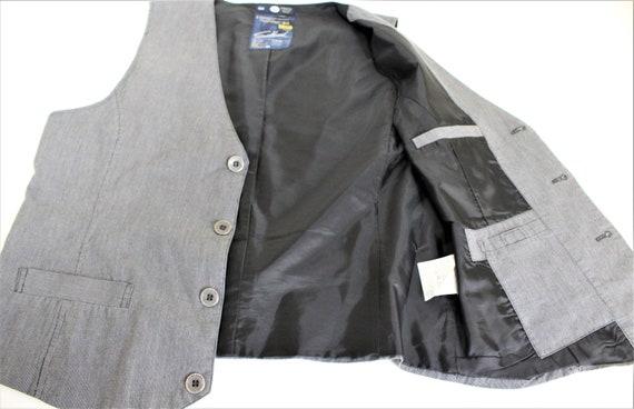 1 Gray Vest Mens Gray waistcoat  Gray Cotton Mens… - image 6