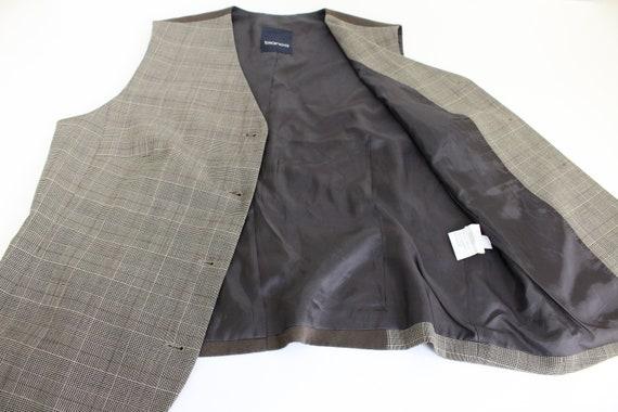 Brown Tweed Vest Womans  Gray Brown wool Blend Wa… - image 4