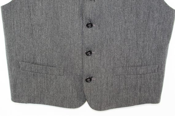 Classic Mens Vest Gray 5 Buttons  Fitted Gray Vest Brand RICO VERO  Mens Formal  Waistcoat Mens Wedding Office Waistcoat  Medium to Large
