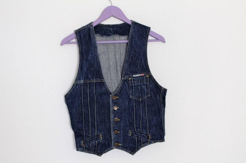 1d1f926f2 Denim pour homme gilet FALMERS veste en Jean sans manches Bleu Denim gilet  Country Western Biker gilet petite taille