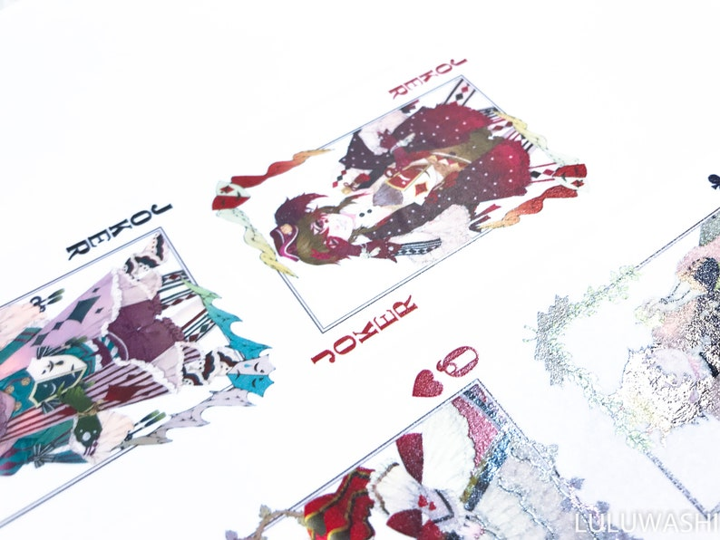 washi tape samples special ink limited edition poker cards 60cm loop Samples
