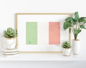 Watercolor Italian Flag Printable - Heritage - Ancestry