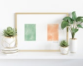 Watercolor Irish Flag Printable - Heritage - Ancestry - St. Patrick's Day