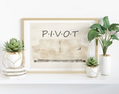 Friends PIVOT! Couch - Watercolor Printable