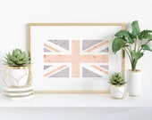 Watercolor United Kingdom Flag Printable - England, Great Britain, Northern Ireland, Scotland, Wales - Heritage - Ancestry