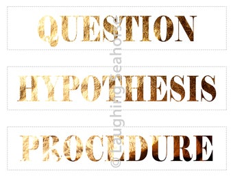 Printable Metallic Copper Science Project Labels