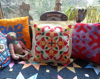 Applique Cushion Kit - Egyptian Delights. All fabrics and instructions included.