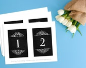 Items Similar To Table Number Cards Chalkboard Table Numbers Table - Restaurant table cards