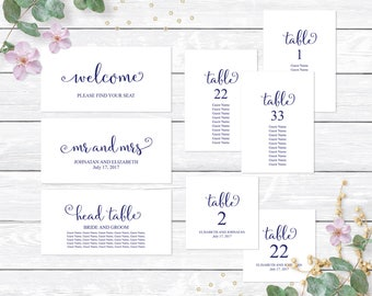 seating chart template wedding table seating chart editable