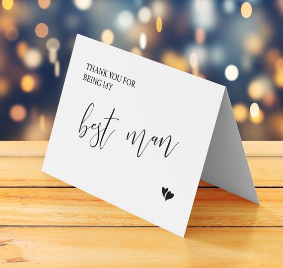 Best Man Thank You Card Printable Wedding Thank You Card Etsy