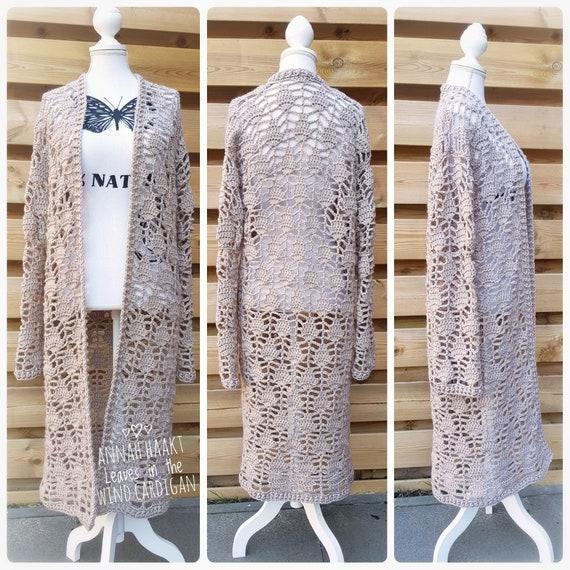 US Crochet Pattern  Boho Chic Jacket Hippie Retro Vest Cardigan Grannysquare
