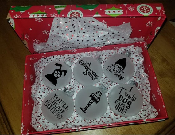 A Christmas Story Ornaments.Christmas Ornaments A Christmas Story Inspired Set
